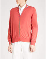 Brunello Cucinelli Tennis wool and cashmere-blend bomber jacket