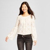 Mossimo Women's Long Sleeve Lace Top