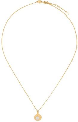 Northskull Pearl Medallion Necklace