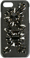 Dolce & Gabbana embellished iPhone 7 case - women - plastic/glass/Calf Leather - One Size