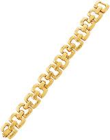 Jose & Maria Barrera Golden Hammered Link Bracelet