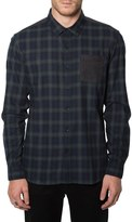 7 Diamonds Evergreen Trim Fit Plaid Woven Shirt