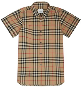 Burberry Kids Vintage Check Short-Sleeve Shirt (3-12 Years)