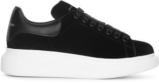 Alexander McQueen Black velvet classic sneakers