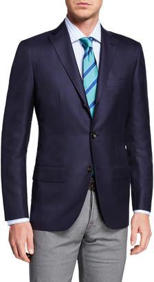 Kiton Men's Solid Cashmere Three-Button Blazer