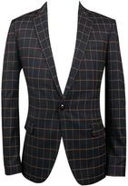 Choies Men's Black Checker Slim Blazer With One-button