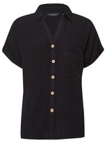 Dorothy Perkins Womens Black Short Sleeve Shirt, Black