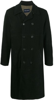Giorgio Armani Pre Owned 1990s Double-Breasted Trench Coat