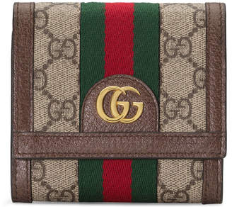 Gucci Ophidia Small GG Supreme Card Case Wallet