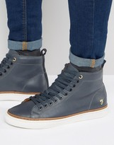Farah Berry Leather Hi Top Sneakers