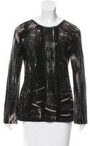 Balenciaga Abstract Print Long Sleeve Top
