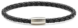Link Up Braided Leather Cord Bracelet