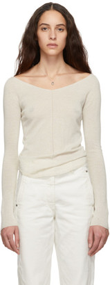Lemaire Off-White Second Skin V-Neck Sweater