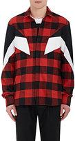 Neil Barrett Men's Buffalo-Checked Cotton Flannel Shirt