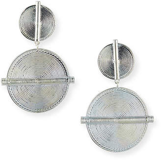 Nest Jewelry Antiqued Coin Clip-On Earrings, Silver