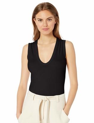 Enza Costa Women's Essential Sleeveless U Neck Tank Top