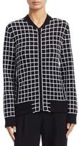 Akris Punto Grid Pattern Bomber Jacket
