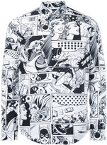 Iceberg comic print shirt - men - Cotton - M