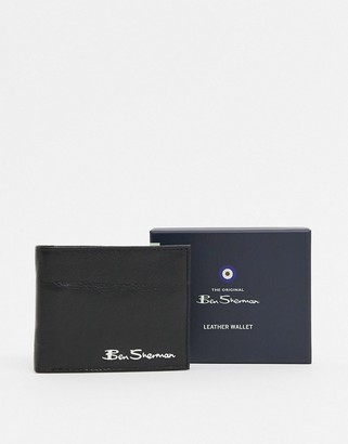 Ben Sherman leather RFID coin wallet