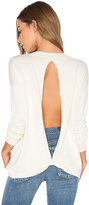 Central Park West Baton Rouge Keyhole Back Sweater in Ivory. - size L (also in M)
