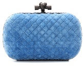 Bottega Veneta Knot cotton and snakeskin clutch