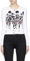 Alice + Olivia Beaded Stacey print cardigan