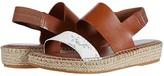 Cole Haan Cloudfeel Espadrille Sandal (Black Leather/Natural Jute/Gum) Women's Shoes