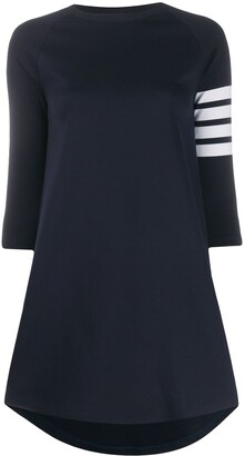 Thom Browne 4-Bar striped dress