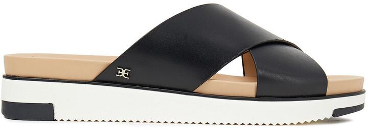 Sam Edelman Audrea Leather Platform Slides