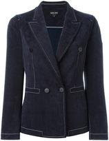 Giorgio Armani double breasted blazer - women - Cupro/Polyester/Spandex/Elastane - 42