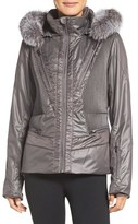 Spyder Women's Posh Waterproof Jacket With Genuine Fox Fur Trim