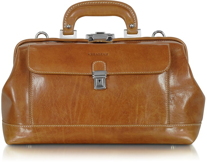 Chiarugi Small Cognac Leather Doctor Bag