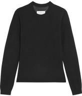 Maison Margiela Suede-paneled Wool Sweater - Black