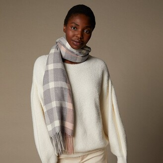 Love & Lore Love And Lore Supersoft Scarf Heather Grey/Rose Tara Plaid