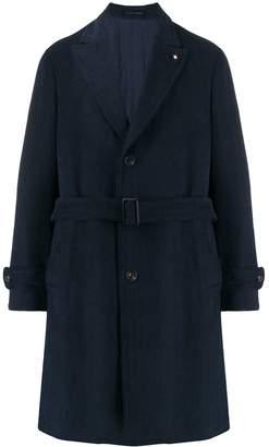 Lardini single-breasted belted coat
