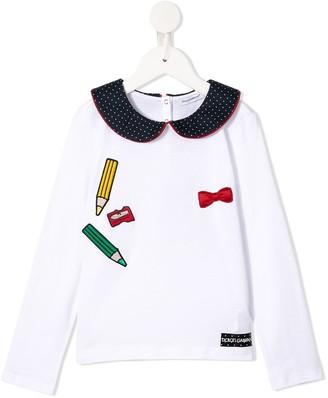 Dolce & Gabbana Kids Pencil Applique Top