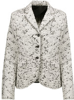 Nina Ricci Frayed cotton-blend bouclé-tweed blazer