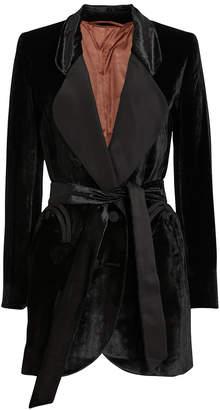 BLAZÉ MILANO Etoile Double Breasted Velvet Blazer