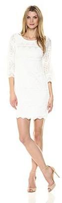 Robbie Bee Women's 3/4 Sleeve lace Sheath Dress