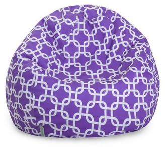 Majestic Home Goods Indoor Purple Links Classic Bean Bag Chair 28 in L x 28 in W x 22 in H