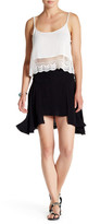 Free People New York Frayed Asymmetric Skirt