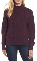 Halogen Women's Mock Neck Cable Knit Sweater