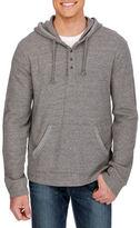 Lucky Brand Hooded Henley Sweatshirt