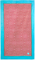 Jonathan Adler Triangle Beach Towel - Red with Blue Border