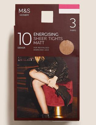 Marks and Spencer 3pk 10 Denier Energising Sheer Tights