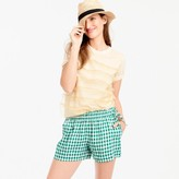J.Crew Gingham linen short with side ties