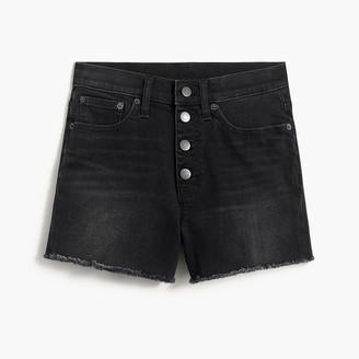 J.Crew Classic denim short with button fly in black wash
