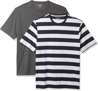 Amazon Essentials Men's 2-Pack Loose-Fit Short-Sleeve Crewneck T-Shirt