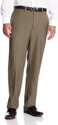 Haggar Men's Big-Tall Expandable Waistband Repreve Stria Plain Front Dress Pant