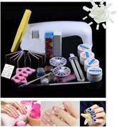 Nail Art Tools Kit Set, 18 Pcs Kingfansion Combo Set Professional DIY UV Gel Nail Art Brush Buffer Tool